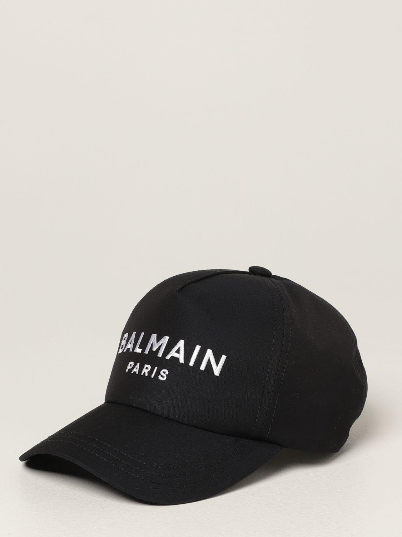 Hat Balmain: Balmain baseball cap with embroidered logo navy 1