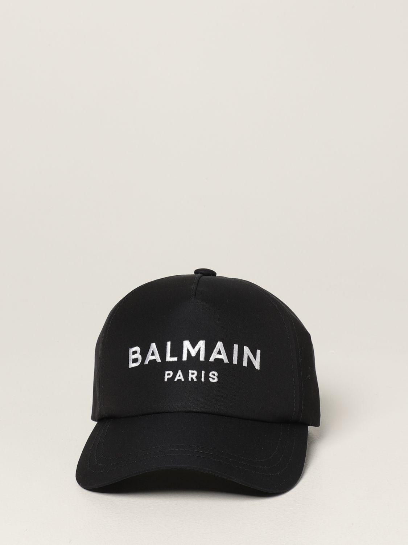 Hat Balmain: Balmain baseball cap with embroidered logo navy 2