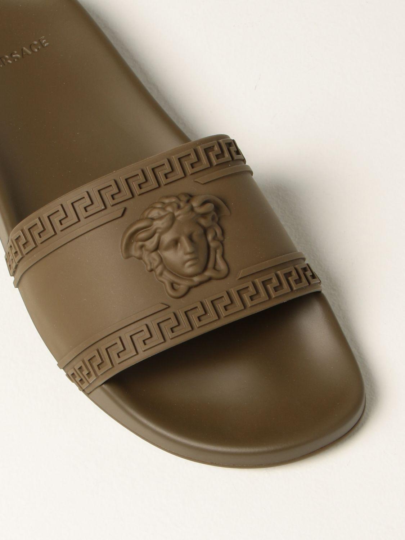Sandali Versace: Sandalo Palazzo Versace in gomma con testa di Medusa militare 4