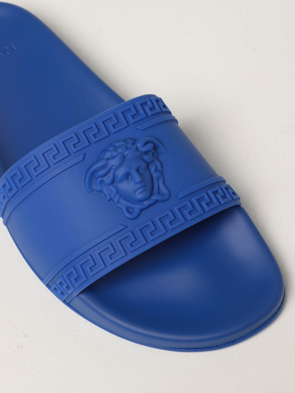 Sandali Versace: Sandalo Palazzo Versace in gomma con testa di Medusa zaffiro 4