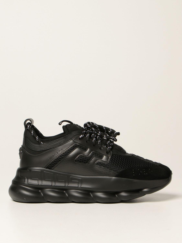 Sneakers Versace: Sneakers Chain Reaction Versace in rete nero 1