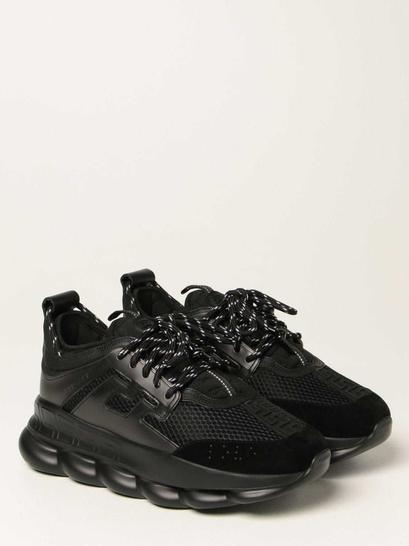 Sneakers Versace: Sneakers Chain Reaction Versace in rete nero 2