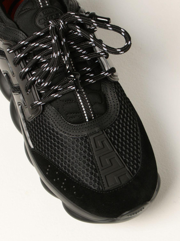 Sneakers Versace: Sneakers Chain Reaction Versace in rete nero 4