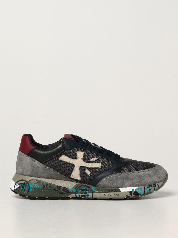 Sneakers Premiata: Sneakers ZacZac Premiata in pelle, camoscio e mesh blue 1