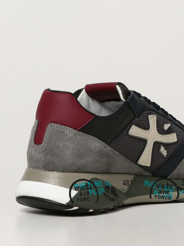 Sneakers Premiata: Sneakers ZacZac Premiata in pelle, camoscio e mesh blue 3