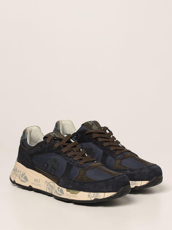 Sneakers Premiata: Sneakers Mase Premiata in nylon e camoscio blue 2