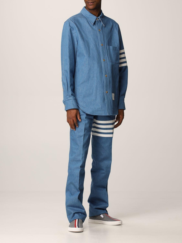 Camicia Thom Browne: Denim con bande denim 2