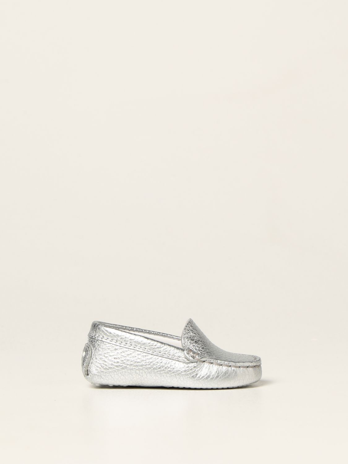 Shoes Tods: Tod's moccasins in laminated leather silver 1