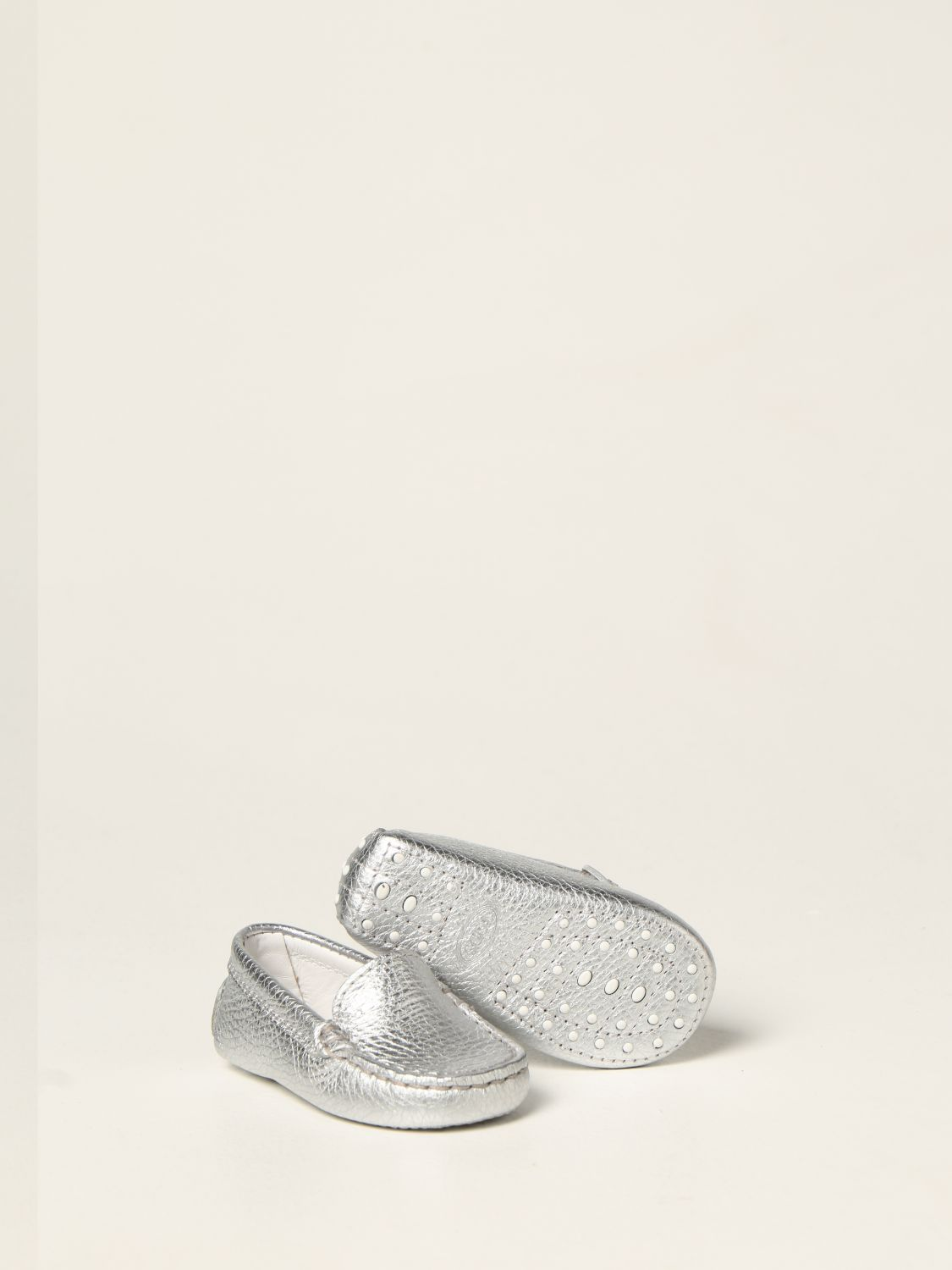 Shoes Tods: Tod's moccasins in laminated leather silver 2