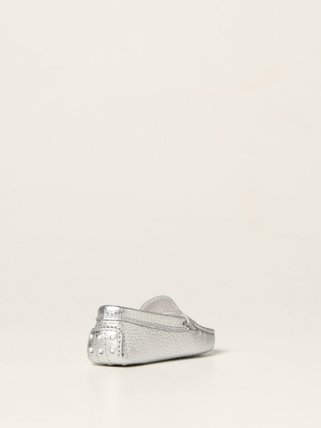 Shoes Tods: Tod's moccasins in laminated leather silver 3