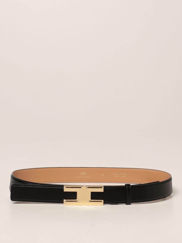 Cintura Elisabetta Franchi: Cintura Elisabetta Franchi in pelle sintetica nero 1