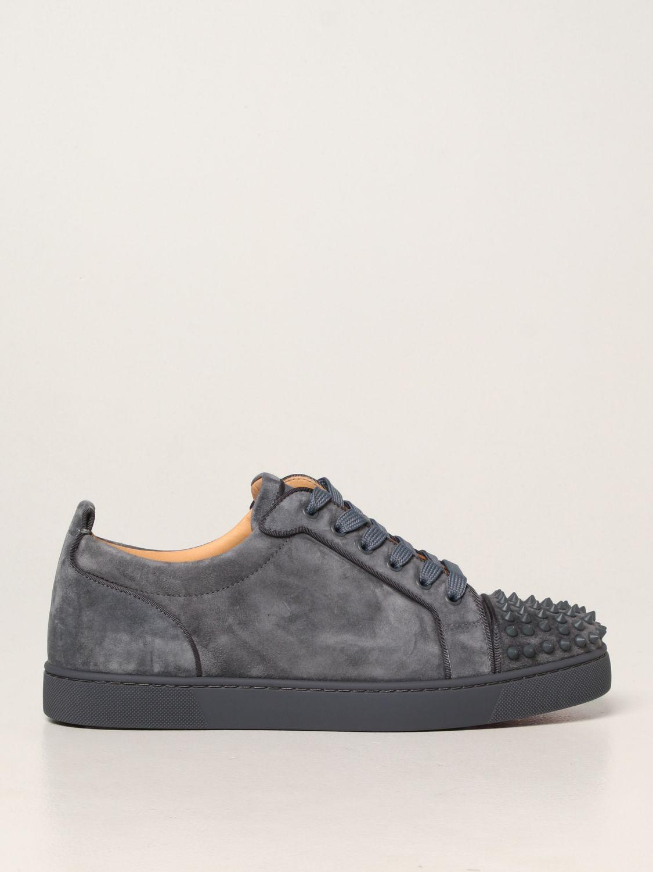 Sneakers Christian Louboutin: Sneakers Louis Junior Orlato Christian Louboutin in pelle e tessuto grigio 1