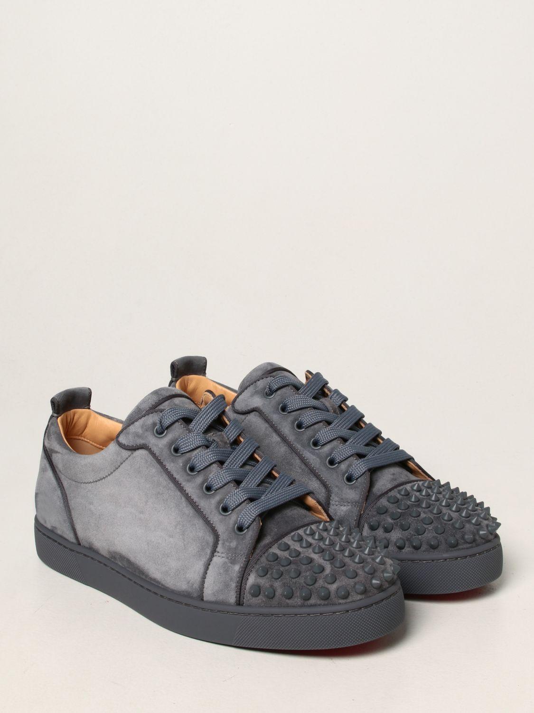 Sneakers Christian Louboutin: Sneakers Louis Junior Orlato Christian Louboutin in pelle e tessuto grigio 2