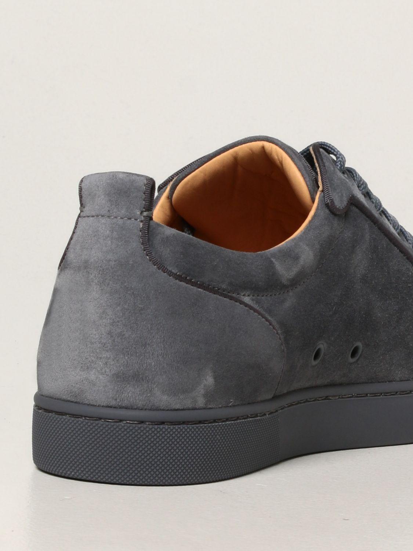 Sneakers Christian Louboutin: Sneakers Louis Junior Orlato Christian Louboutin in pelle e tessuto grigio 3