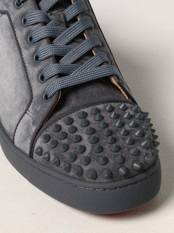 Sneakers Christian Louboutin: Sneakers Louis Junior Orlato Christian Louboutin in pelle e tessuto grigio 4