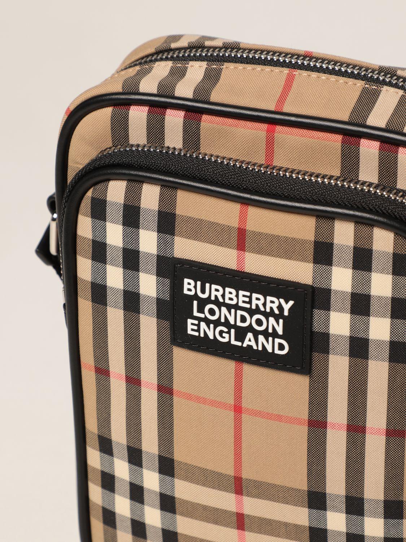 Borsa a tracolla Burberry: Borsa Freddie Burberry in cotone check beige 4