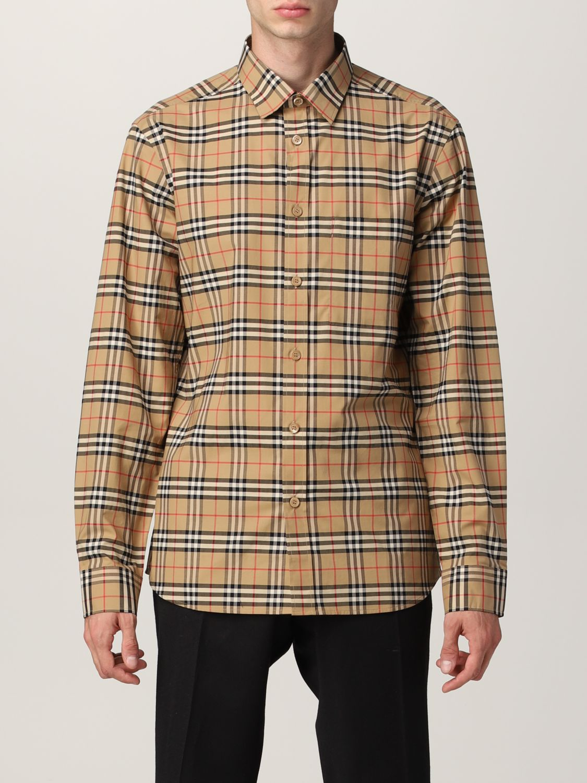 Camisa Burberry: Camisa hombre Burberry beige 1