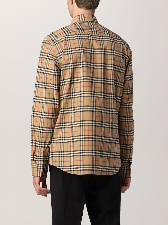 Camisa Burberry: Camisa hombre Burberry beige 3