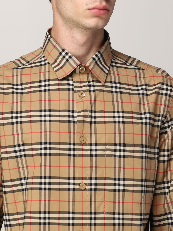 Camisa Burberry: Camisa hombre Burberry beige 5