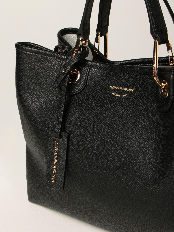 Borse tote Emporio Armani: Borsa MyEA Bag Emporio Armani in pelle sintetica martellata nero 3