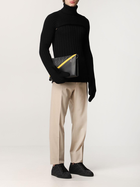 Portadocumenti Fendi: Pochette Fendi con stampa FF Fendi nero 2