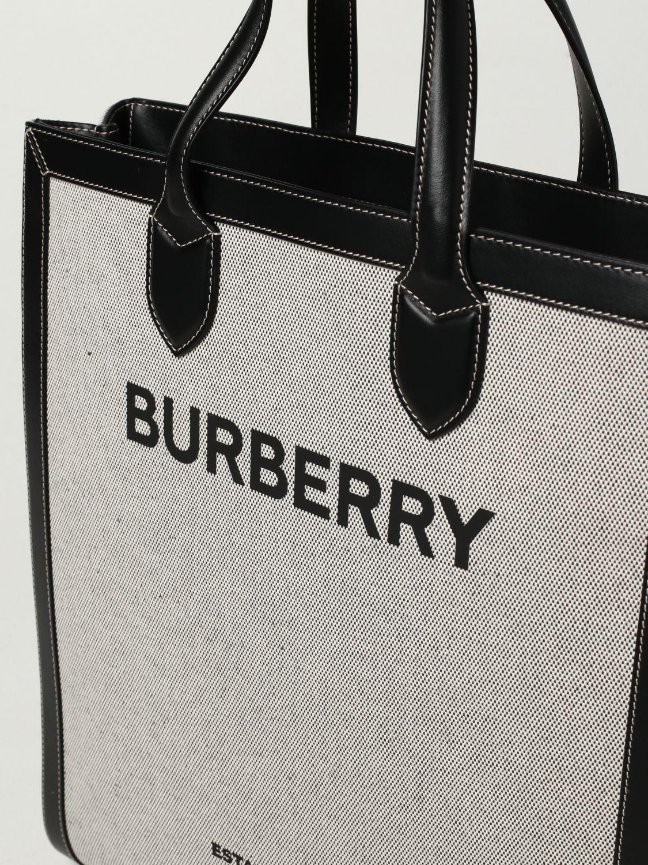 Borsa Burberry: Borsa Burberry in cotone con stampa Burberry Horseferry nero 3