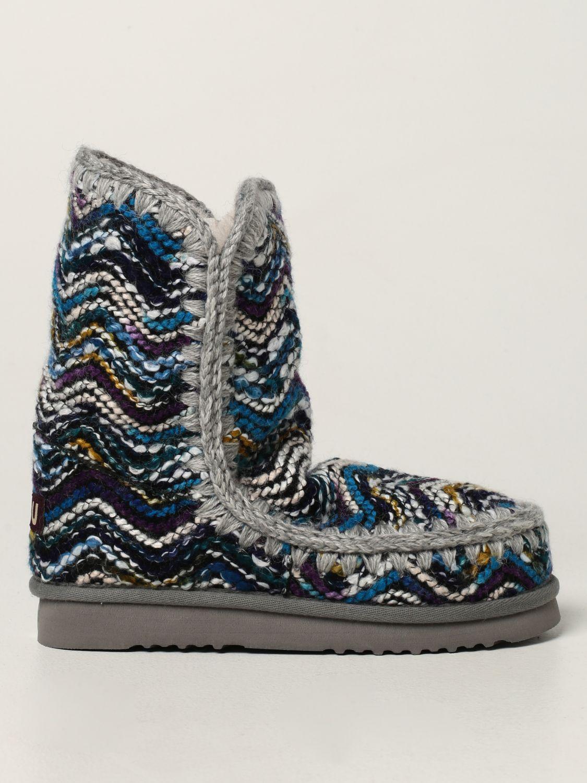 平底靴 Mou: 鞋 女士 Mou 浅蓝色 1