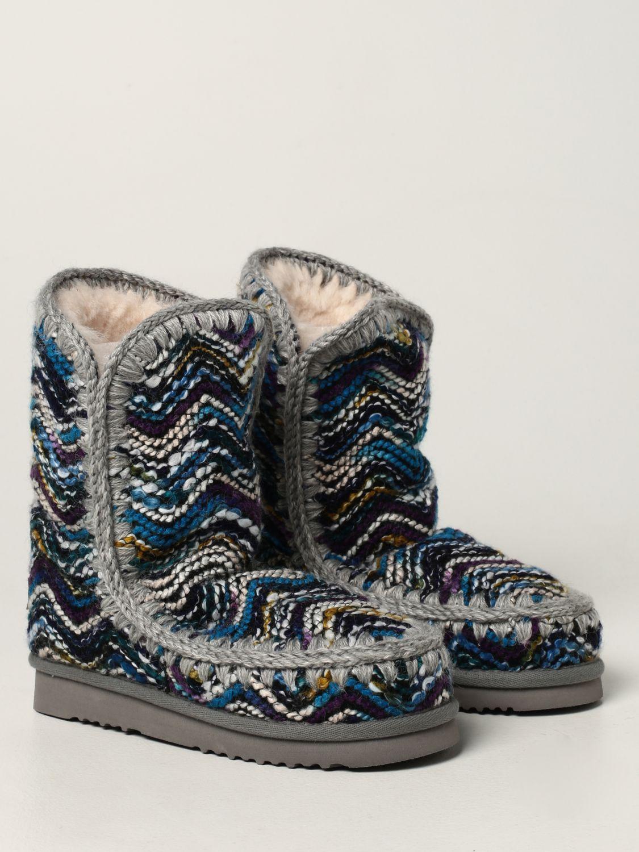 平底靴 Mou: 鞋 女士 Mou 浅蓝色 2