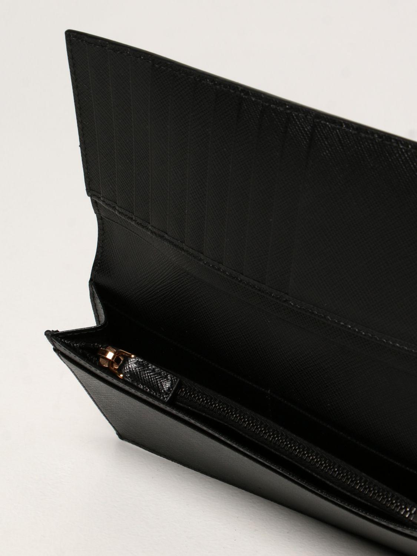Portafoglio Prada: Portafoglio Prada in pelle saffiano nero 4