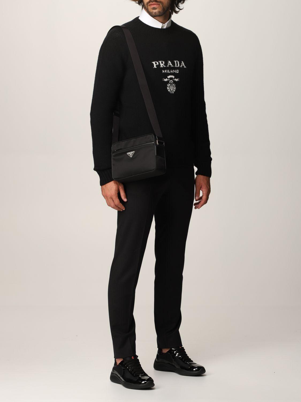 Borsa a tracolla Prada: Borsa a tracolla Prada in re-nylon nero 2