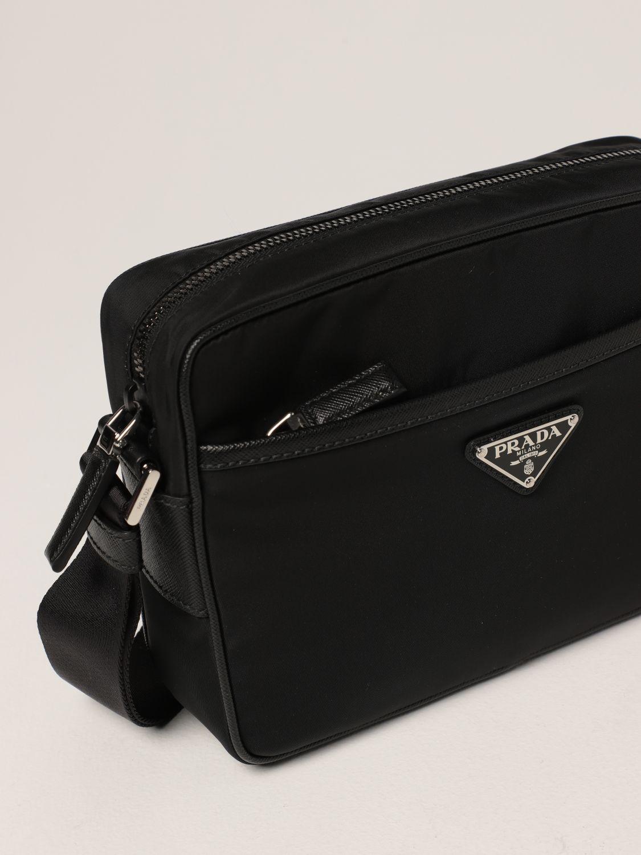 Borsa a tracolla Prada: Borsa a tracolla Prada in re-nylon nero 4