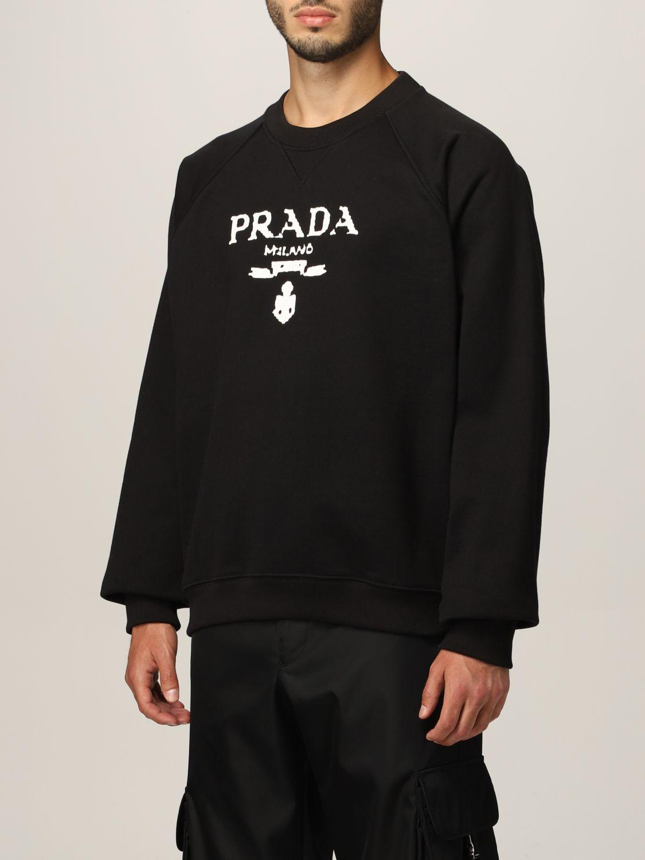 Sudadera Prada: Sudadera hombre Prada negro 4