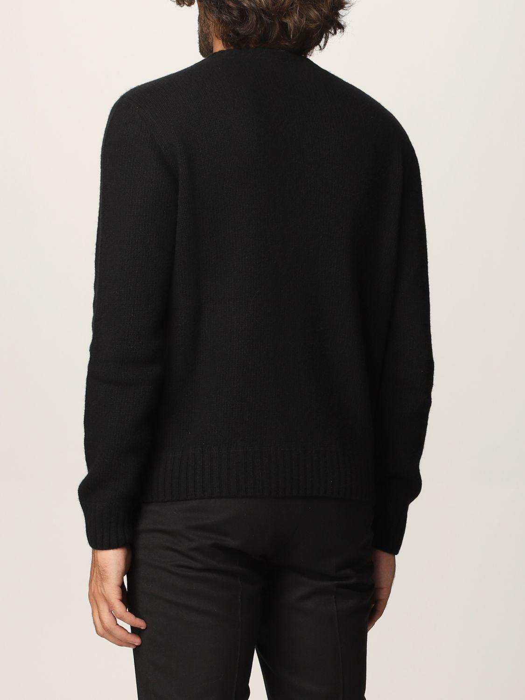 Maglia Prada: Maglia Prada in lana e cashmere con logo nero 2