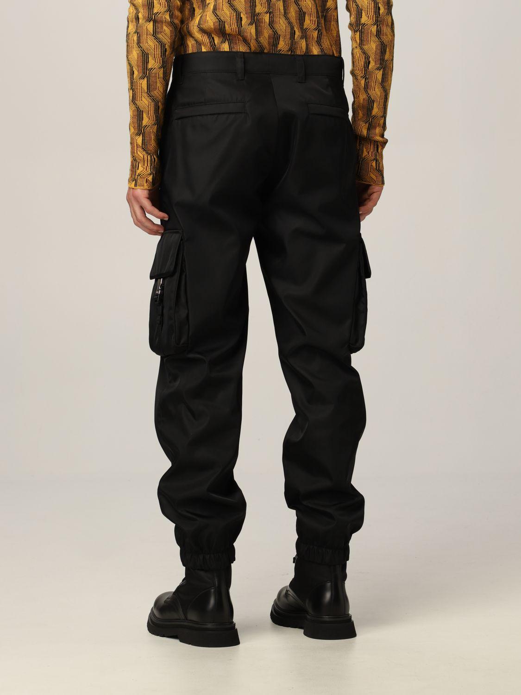 Pantalone Prada: Pantalone Prada in re-nylon con logo nero 2