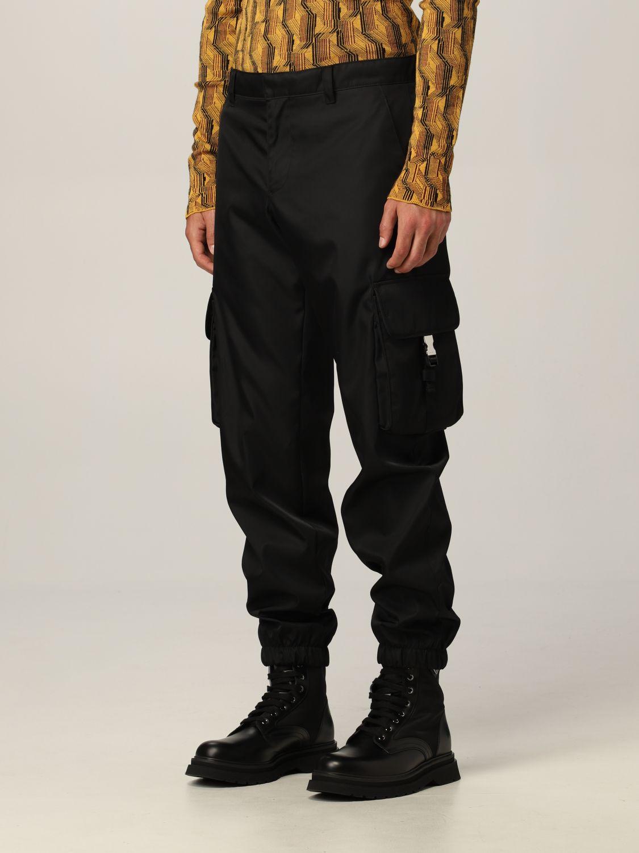 Pantalone Prada: Pantalone Prada in re-nylon con logo nero 3