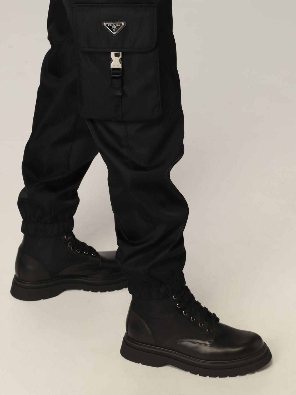 Pantalone Prada: Pantalone Prada in re-nylon con logo nero 4