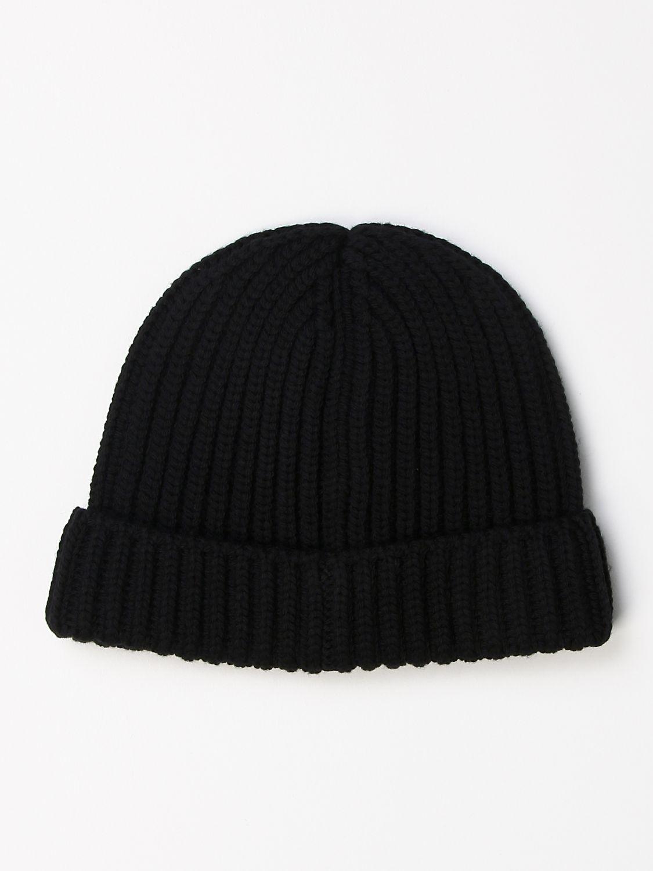 Cappello Prada: Cappello a berretto Prada di lana con logo triangolare nero 2