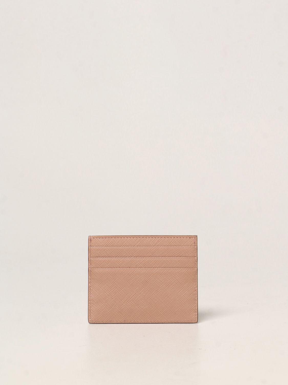 Portafoglio Prada: Porta carte di credito Prada in pelle saffiano cipria 2