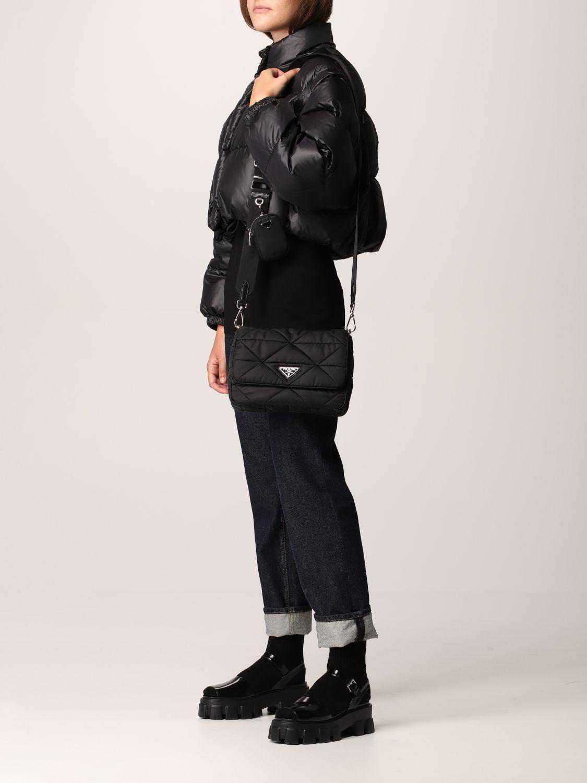 Borse a tracolla Prada: Borsa Prada in nylon patch nero 2