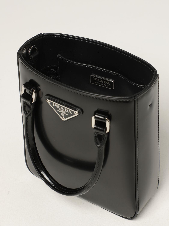 Borsa mini Prada: Borsa Prada in pelle spazzolata nero 5