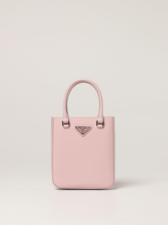 Borsa mini Prada: Borsa Prada in pelle spazzolata rosa 1