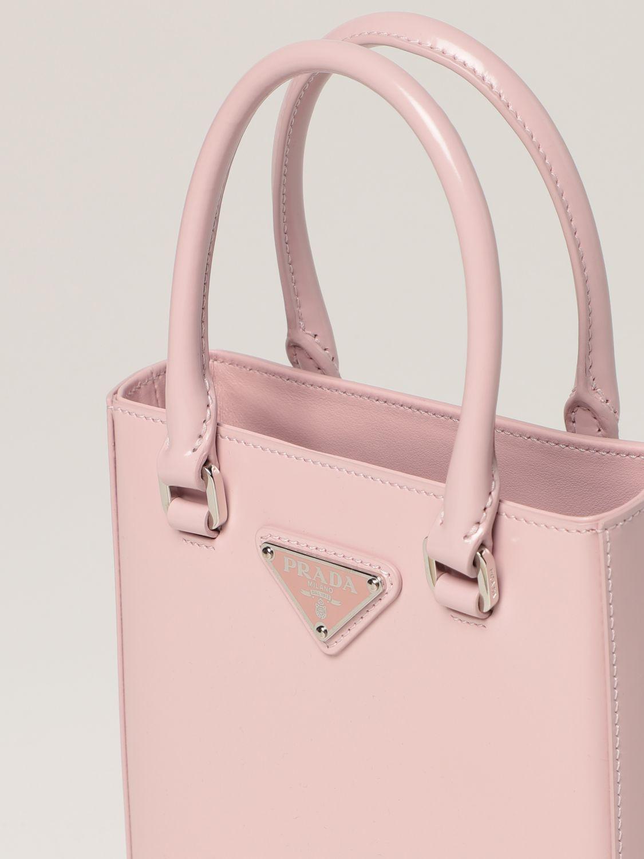 Borsa mini Prada: Borsa Prada in pelle spazzolata rosa 3