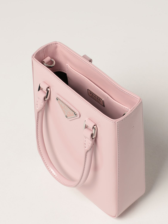 Borsa mini Prada: Borsa Prada in pelle spazzolata rosa 4