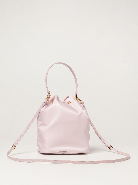 Borsa mini Prada: Borsa Prada in re-nylon con logo triangolare rosa 3