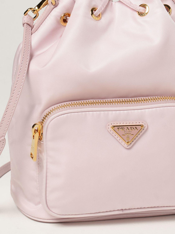 Borsa mini Prada: Borsa Prada in re-nylon con logo triangolare rosa 4