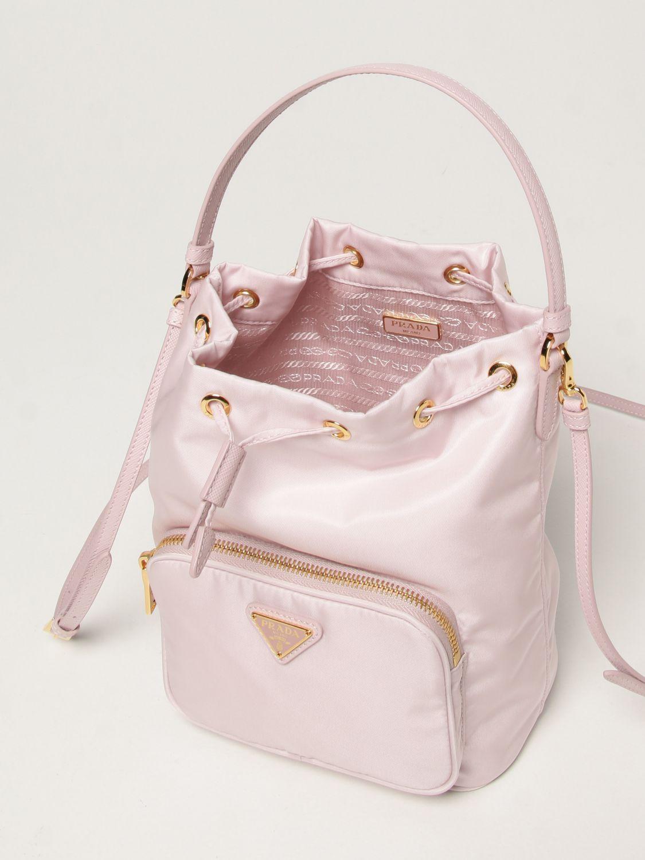 Borsa mini Prada: Borsa Prada in re-nylon con logo triangolare rosa 5
