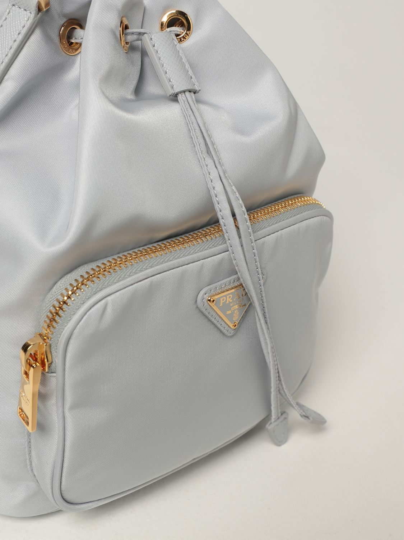 Borsa mini Prada: Borsa Prada in re-nylon con logo triangolare cielo 4