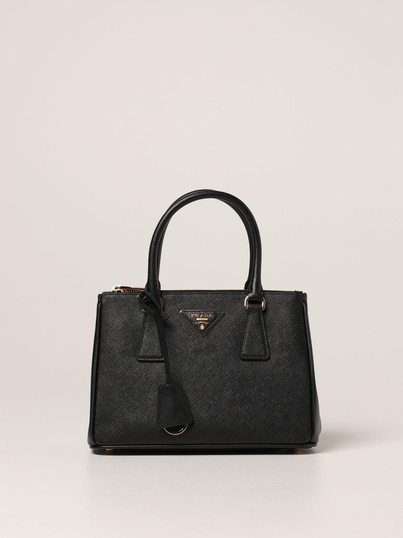 Borsa mini Prada: Borsa Galleria Prada in pelle saffiano nero 1