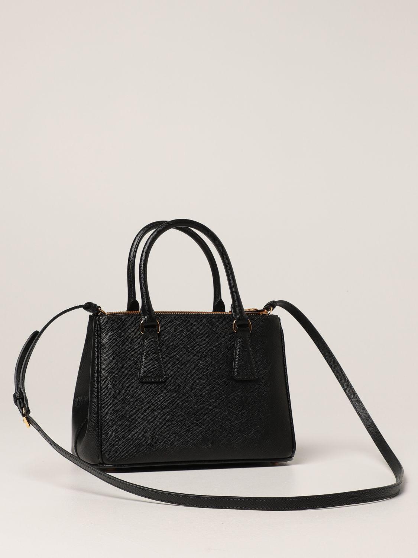 Borsa mini Prada: Borsa Galleria Prada in pelle saffiano nero 3