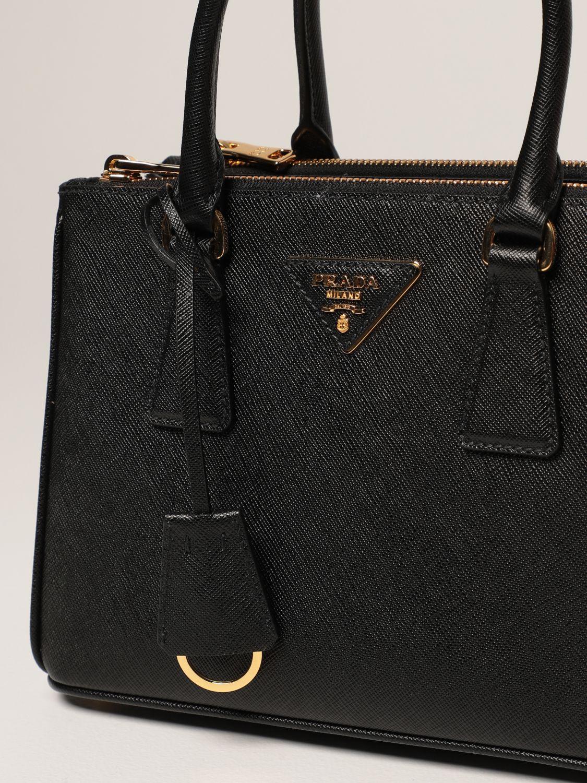 Borsa mini Prada: Borsa Galleria Prada in pelle saffiano nero 4